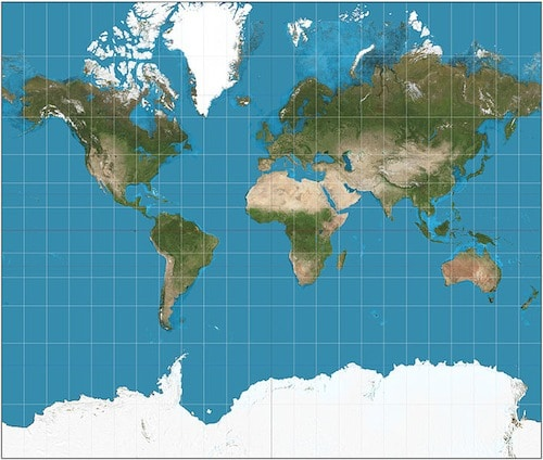 Mercator Projection- Kid World Citizen