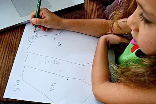 Kids Doing Collage Craft Landscape- Kid World Citizen