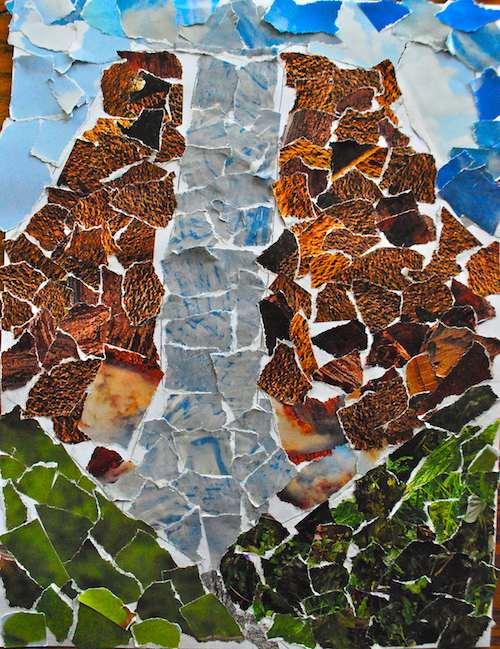 Venezuela Angel Falls Collage Craft- Kid World Citizen