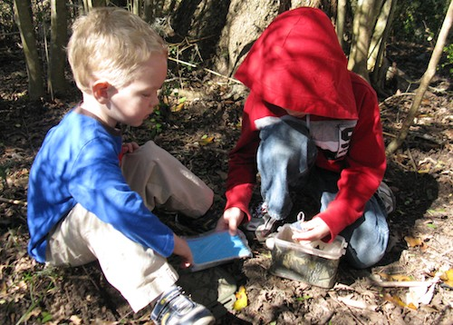 Geocaching with Kids- Kid World Citizen