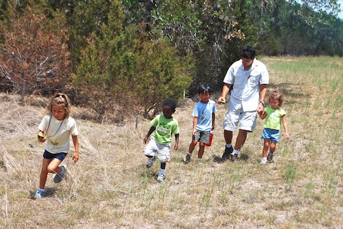 Leading the Way to a Geocache- Kid World Citizen