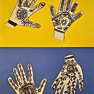 """Henna Hands:"" A Simple Craft"