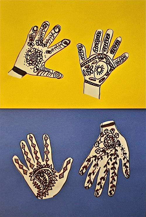 Henna Hands A Simple Multicultural Craft For Kids