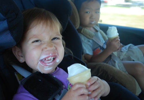 Eating Ice Cream in the Car- Kid World Citizen