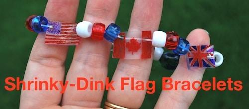 Diy Shrinky Dinks Flag Bracelet