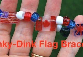 DIY Shrinky Dink Flag Bracelet