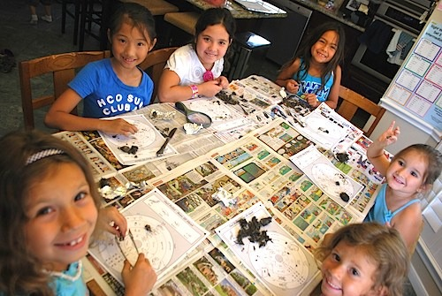 Girls Dissecting Owl Pellets- Kid World Citizen