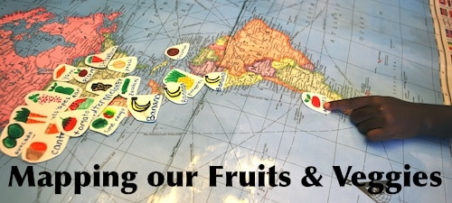 Mapping Fruits and Veggies- Kid World Citizen