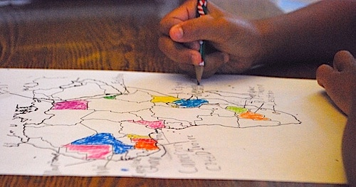 Coloring Africa Map- Kid World Citizen