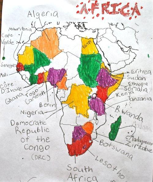 Map the Book Africa- Kid World Citizen