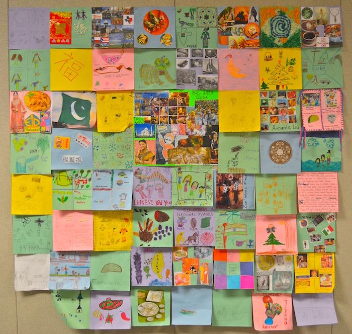 Diversity Quilt Multicultural School Project- Kid World Citizen