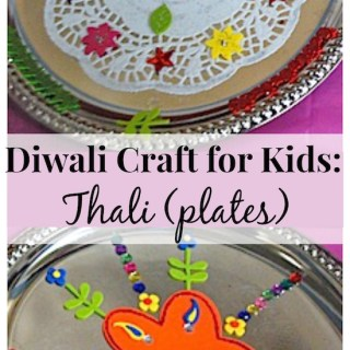 Decorate Thali (Plates) for a Simple Diwali Craft
