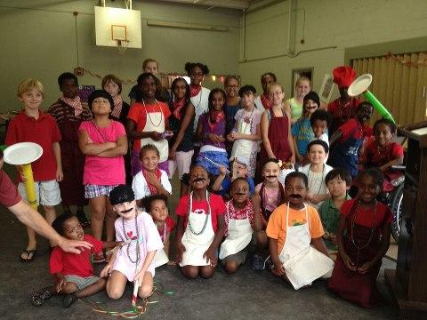 Kids Volunteering Pasta Dinner- Kid World Citizen