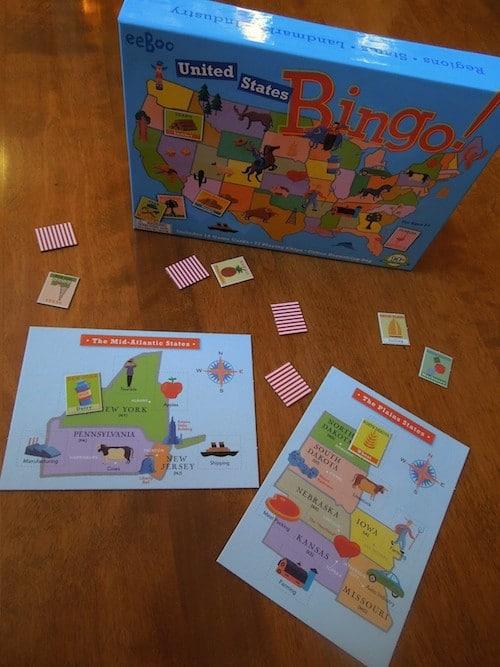 USA Bingo Game- Kid World Citizen