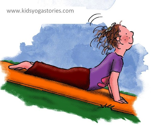 Yoga for Kids pose- Kid World Citizen