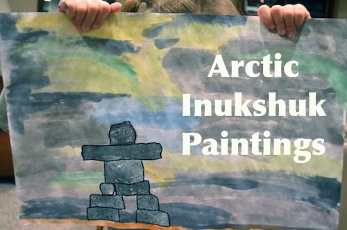 Arctic Inukshuk Paintings Inuit- Kid World Citizen