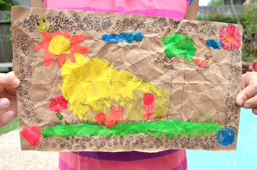 Mexican Amate Kids Painting- Kid World Citizen