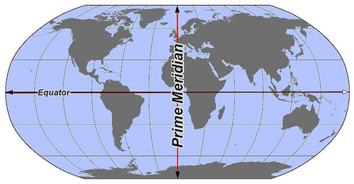 Earthmap Prime Meridian- Kid World Citizen