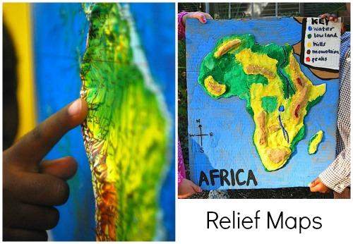 Relief Maps-Kid World Citizen
