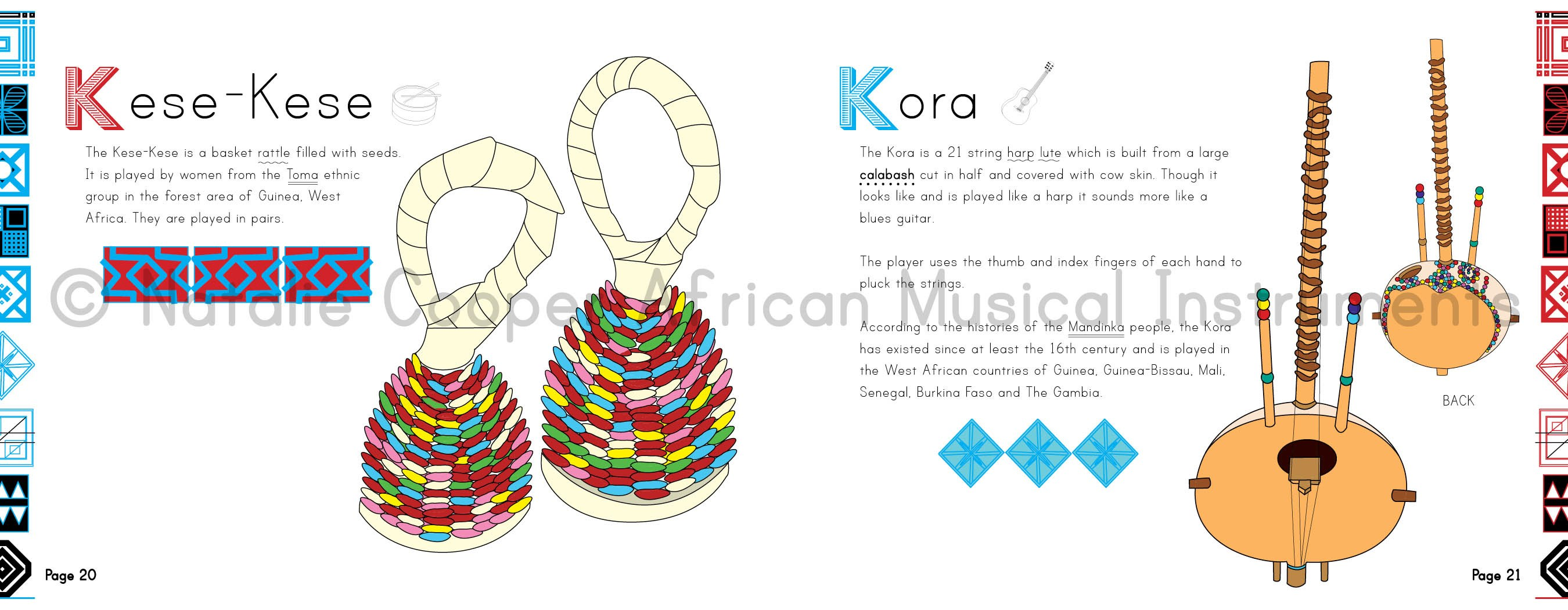 African Musical Instruments Pages- Kid World Citizen