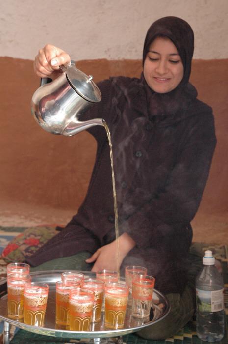 Serving Moroccan Tea Minttea- Kid World Citizen