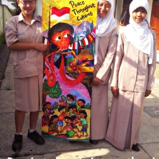 PTPI Indonesia mural- Kid WOrld Citizen