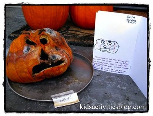Rotting Pumpkin Experiment- Kid World Citizen