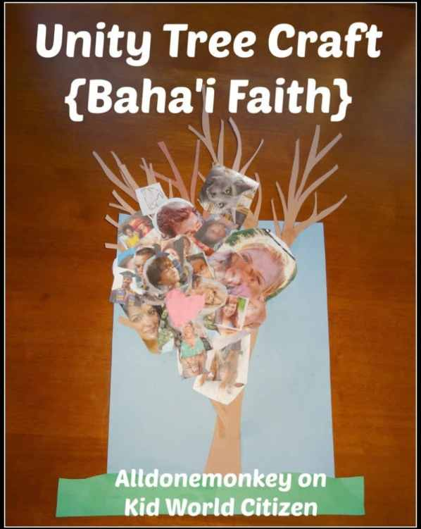 Unity Tree Craft {Baha'i Faith} - Alldonemonkey on Kid World Citizen
