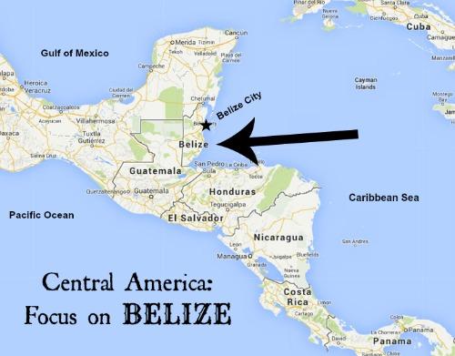 Belize Map- Kid World Citizen