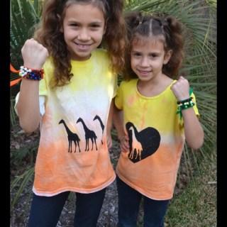 """African Sunset"" DIY T-Shirt and Bracelet"