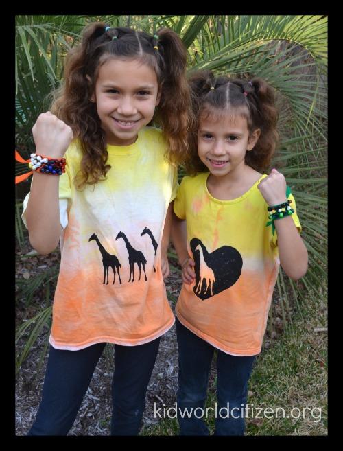 DIY African Sunset Craft T-shirts Kids- Kid World Citizen