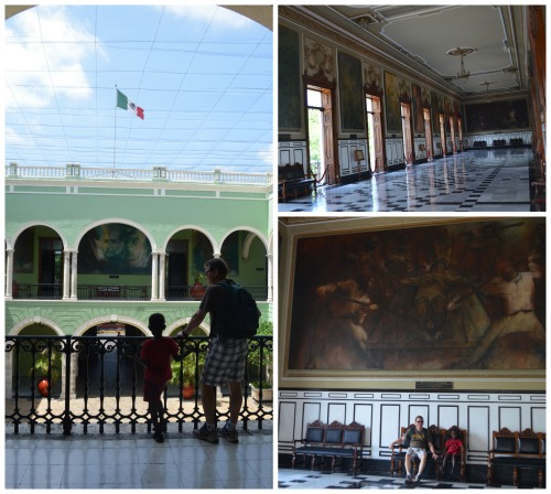 Governors Palace Merida Mexico with Kids- Kid World Citizen