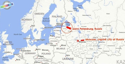Geography Lessons Russia Map- Kid World Citizen