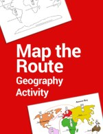 Map the Route Geography for Kids Activity KWC TPT Printable