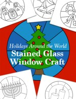 Holidays Around the World Stained Glass Window Craft for Kids