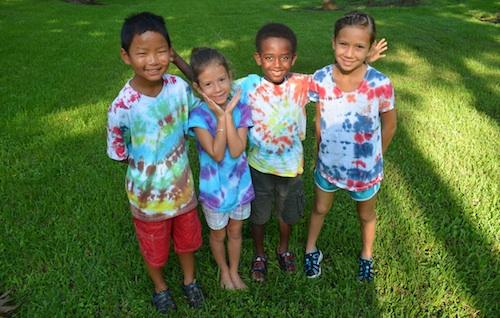 Tie-Dye Shirts Kids Activity- Kid World Citizen