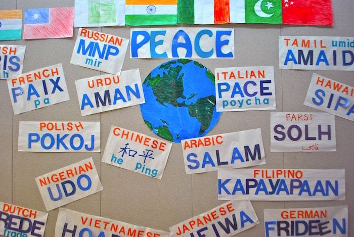 Peace Bulletin Board Ideas Display- Kid World Citizen