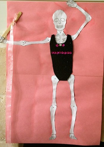 Dancing Skeleton Craft- Kid World Citizen