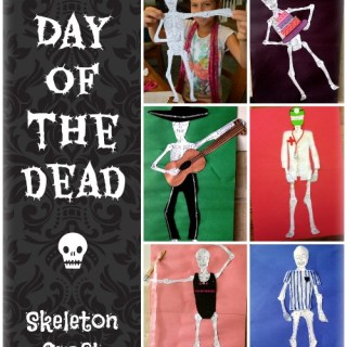 Day of the Dead Skeleton Craft Button- Kid World CItizen