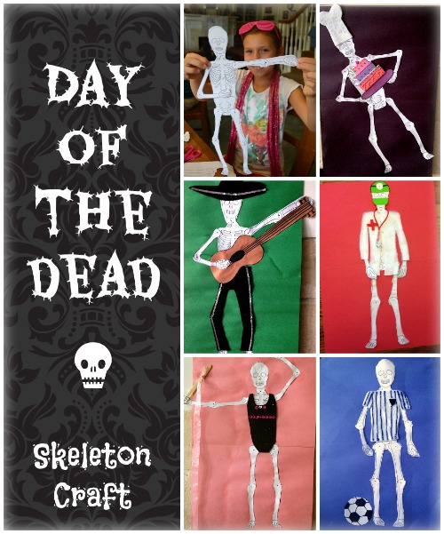 Skeleton Craft Day of the Dead Button- Kid World CItizen