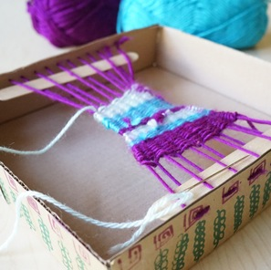 Simple Box Loom Weaving Projects Kids- Kid World Citizen