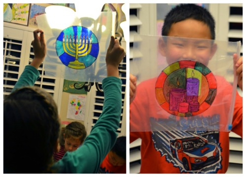 Multicultural Stained Glass Windows holidays around the world craft-- Kid World Citizen