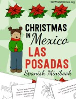Las Posadas Spanish Language Minibook Kid World Citizen Holidays Around the World