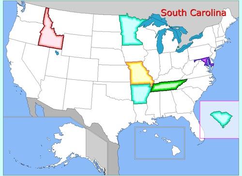 US Geography Free Online Game- Kid World Citizen