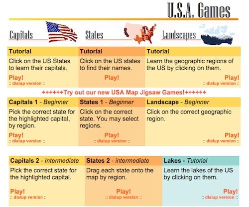 US Geography Game Online- Kid World Citizen