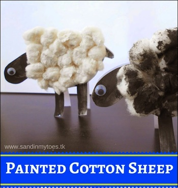 Sheep Craft Cotton Balls- Kid World Citizen