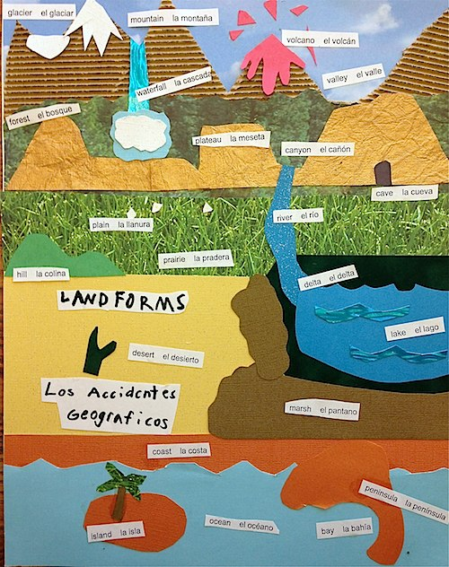 paper art: landforms for kids