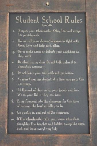 School Rules Laura Ingalls Wilder Museum- Kid World Citizen