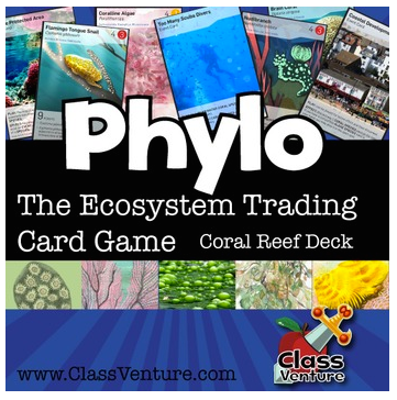 Coral Reef Ecosystem Trading Card Game- Kid World Citizen