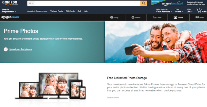 Amazon Prime Photo Cloud Storage- Kid World Citizen